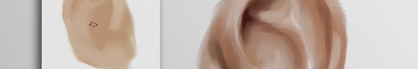 Life Drawing – Painting an Ear