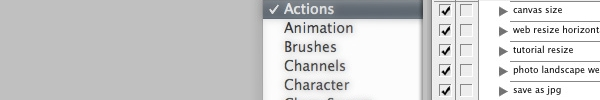 Photoshop Tools – Actions